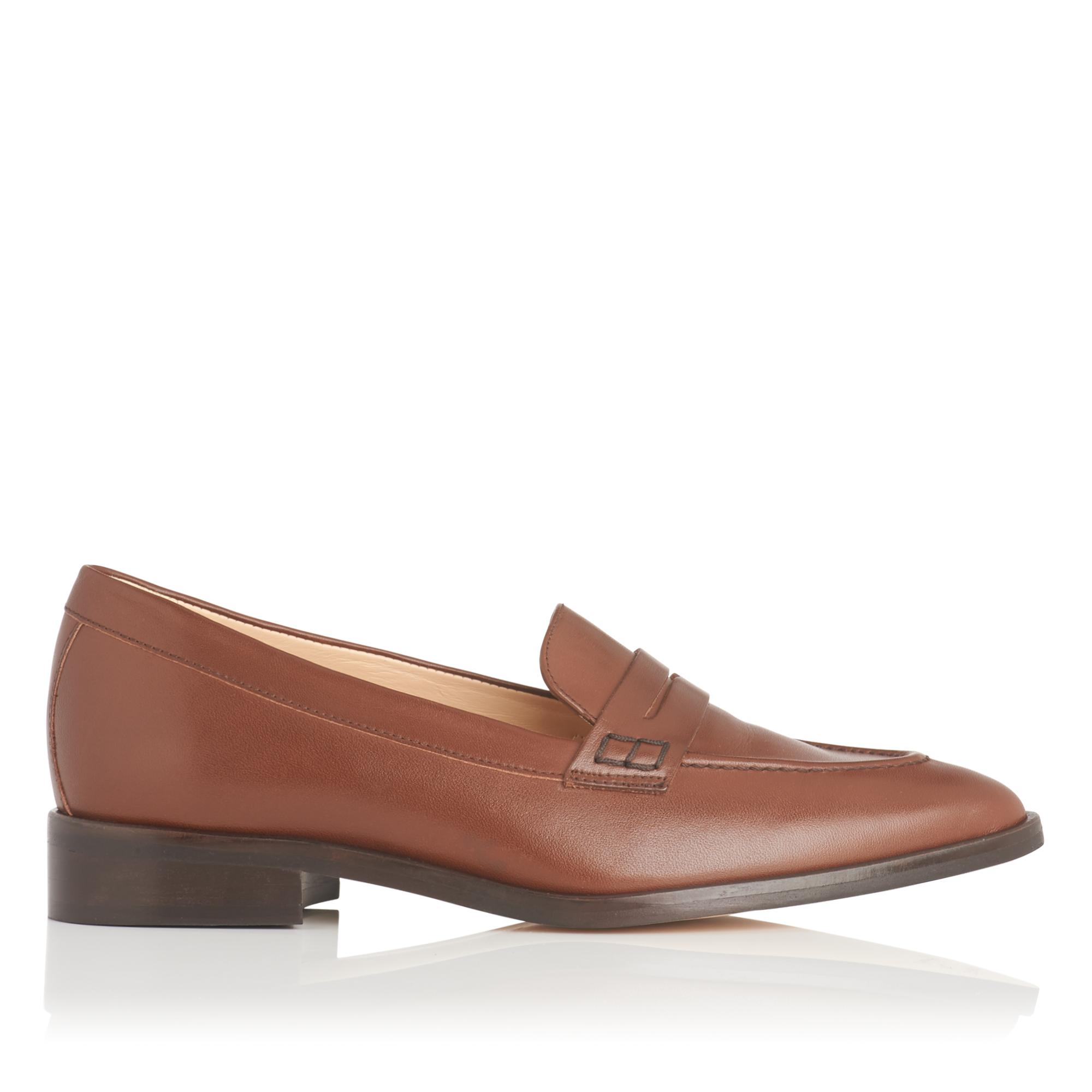 Iona Brown Leather Flats