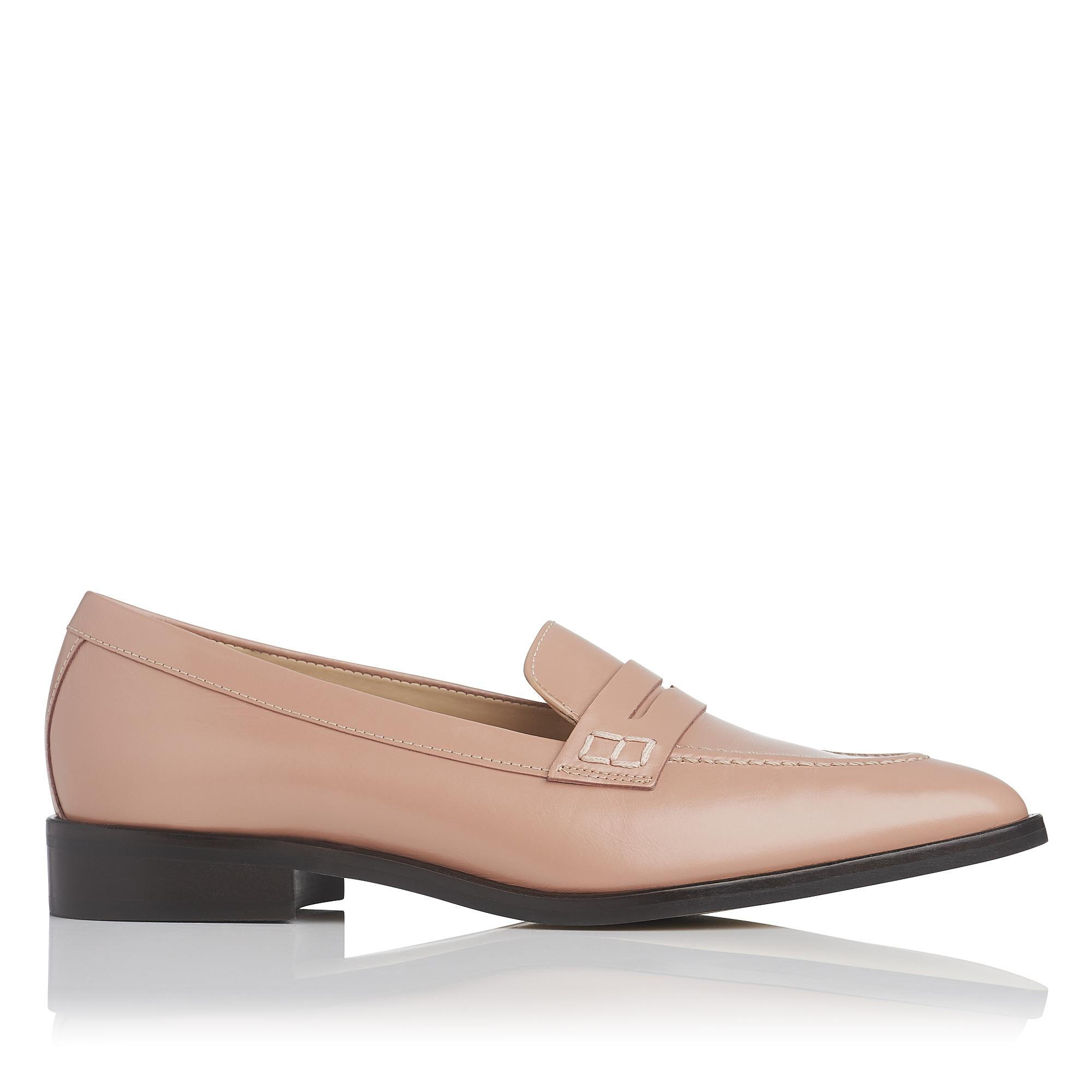 Iona Pink Leather Flat