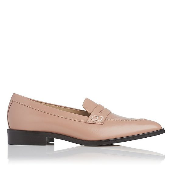 Iona Pink Leather Flats