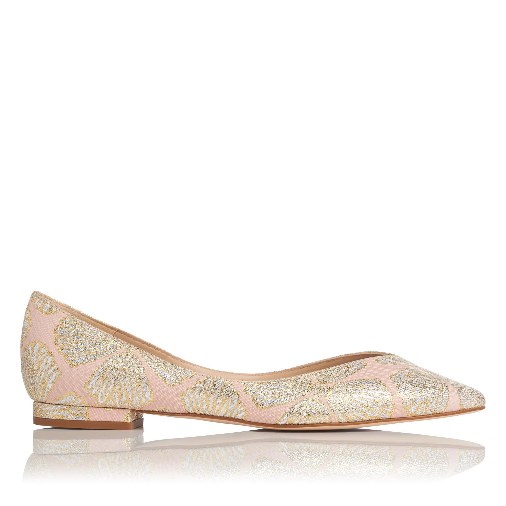 Luisa Pink Metallic Flats