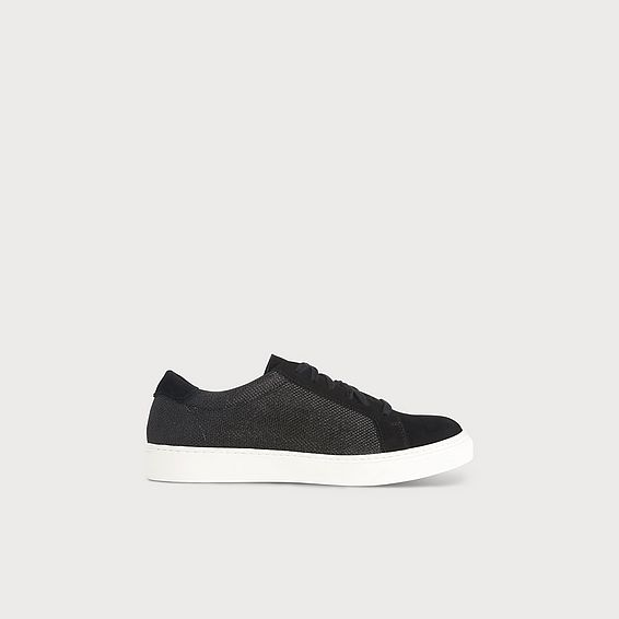 Rina Black Lace Up Sneaker