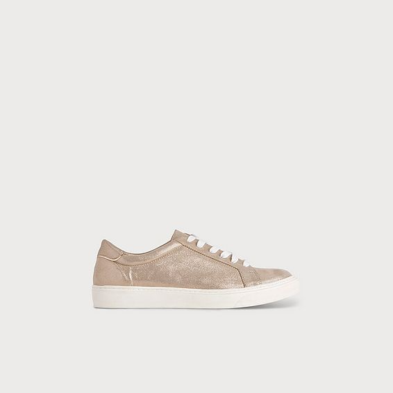 Rina Gold Lace Up Sneaker