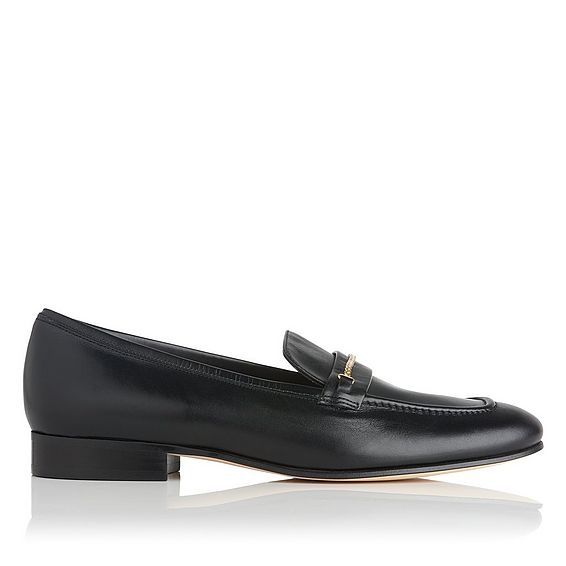 Stevie Black Leather Loafer