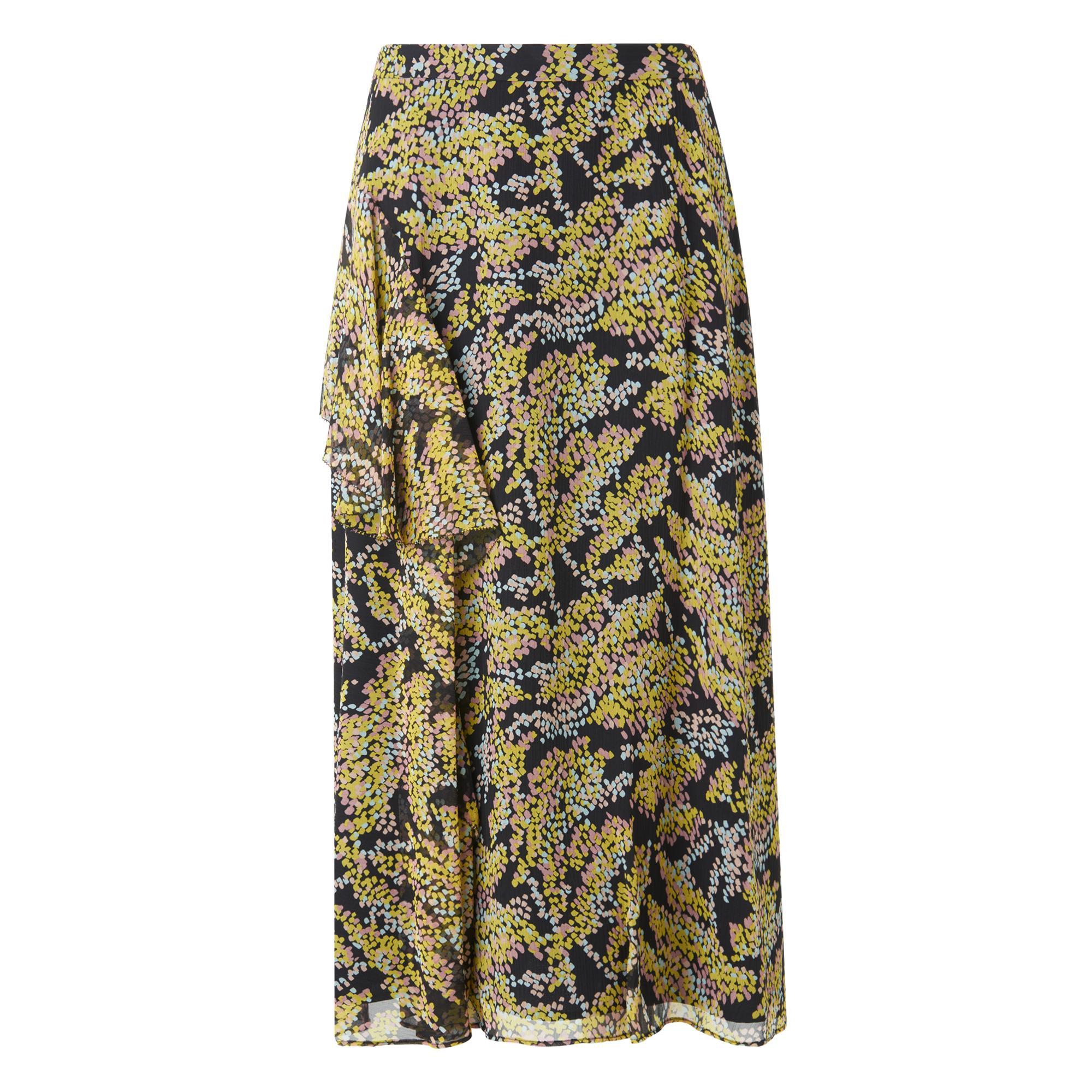 Kimi Printed Silk Skirt