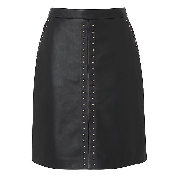 Lisa Black Leather Skirt