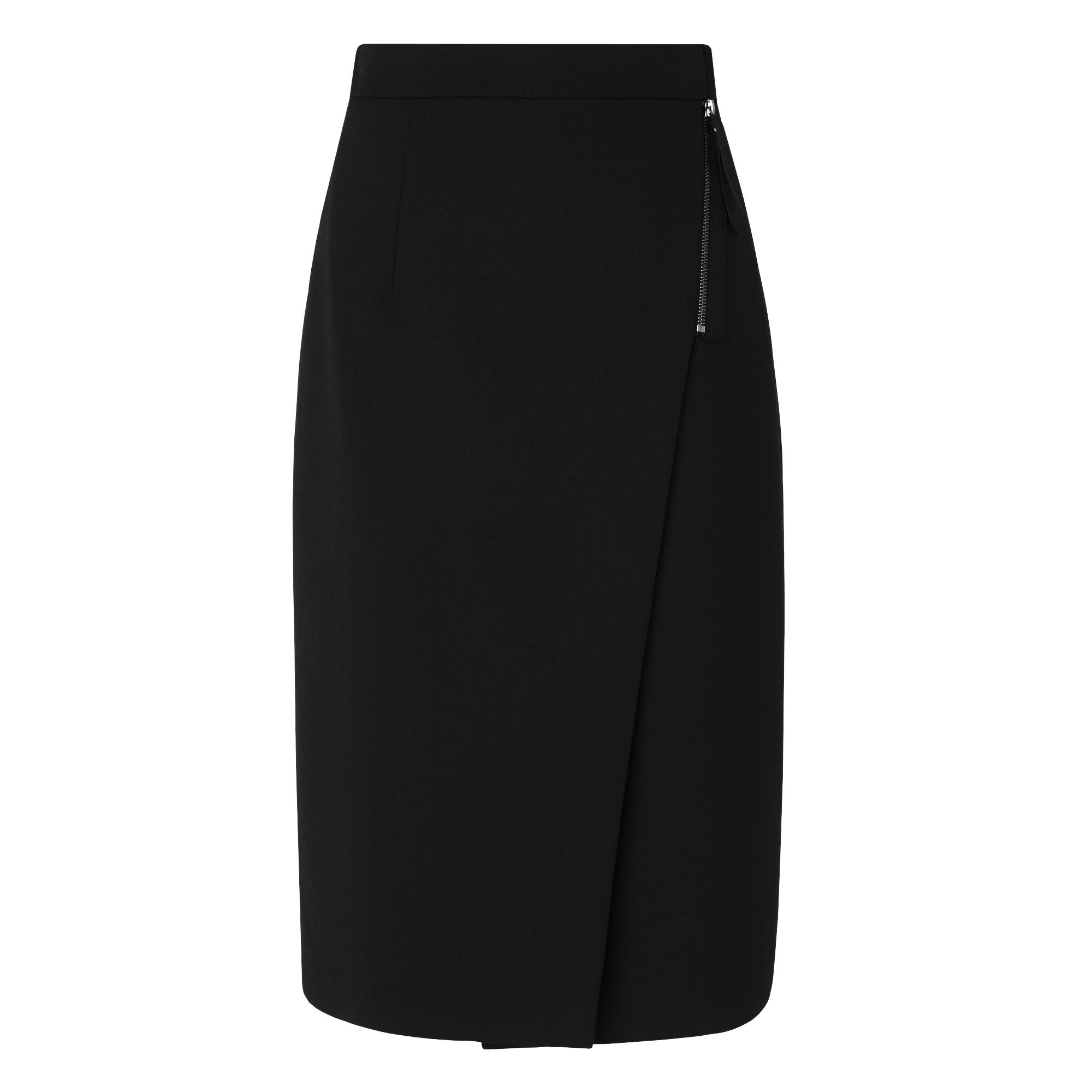 Lou Black Wrap Skirt