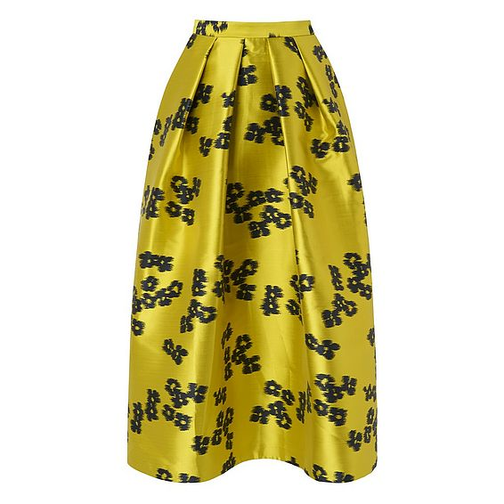 Sana Yellow Floral Skirt