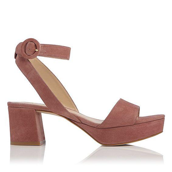 Alie Pink Suede Sandal