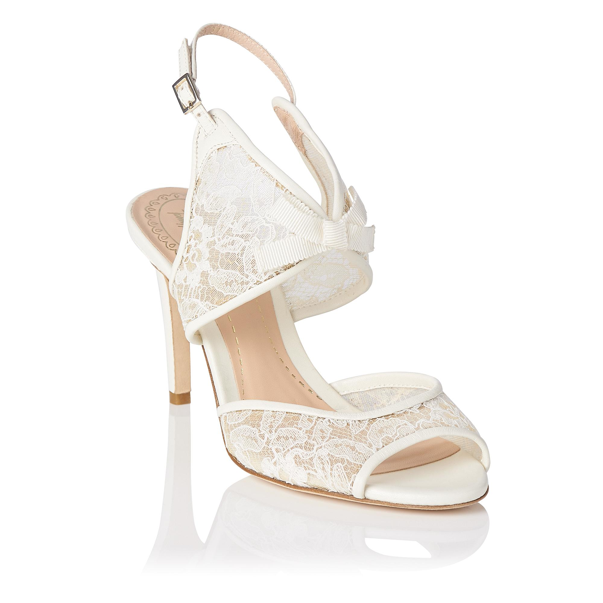 31720f99d15 Cecilia Ivory Lace Heel