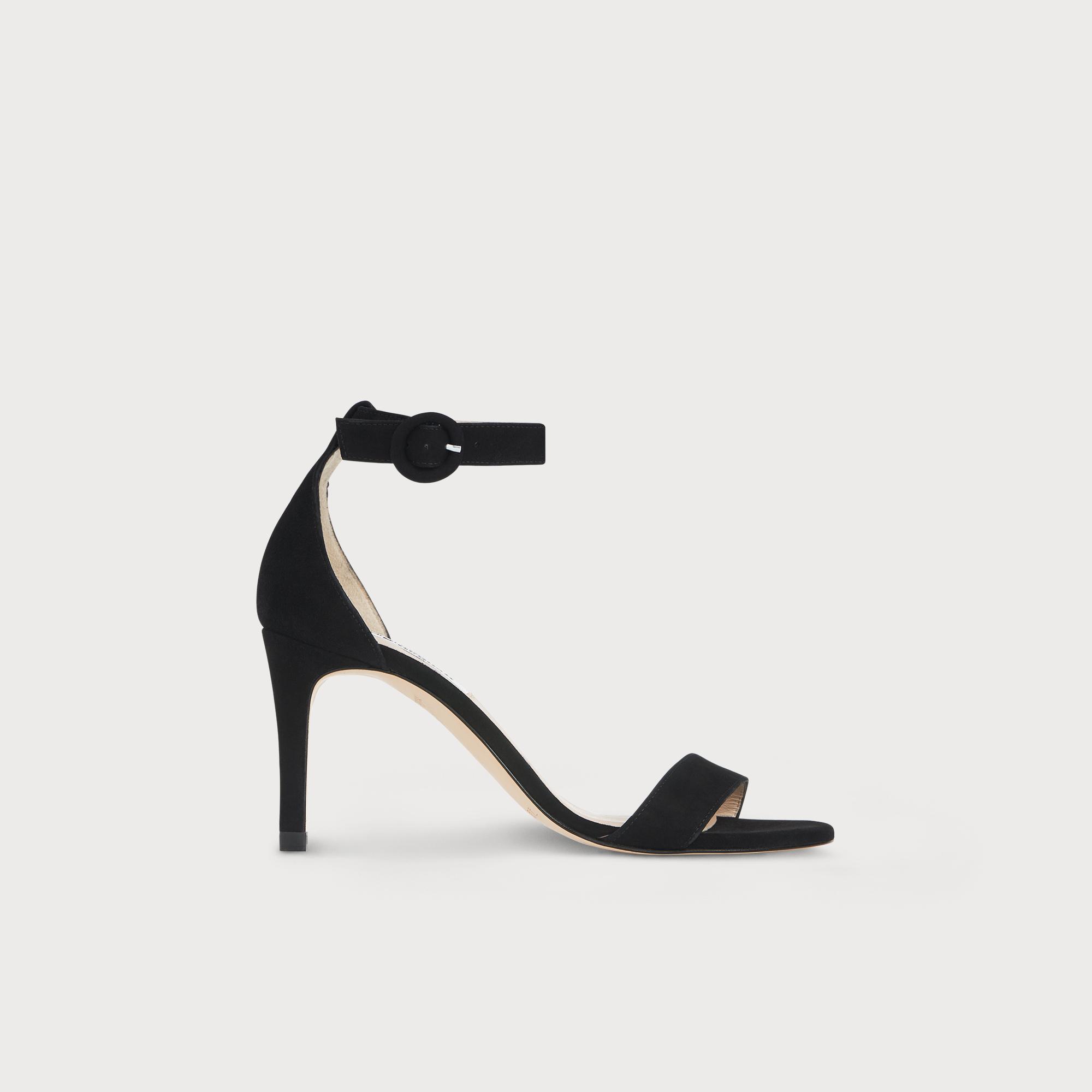 Dora Black Suede Sandal