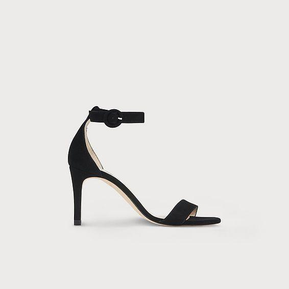 Dora Black Suede Sandals