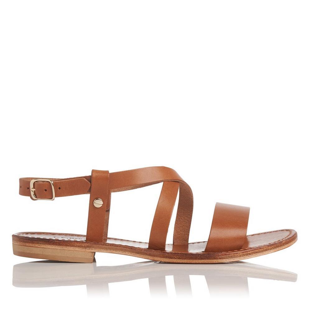 Hemera Tan Leather Sandal by L.K.Bennett