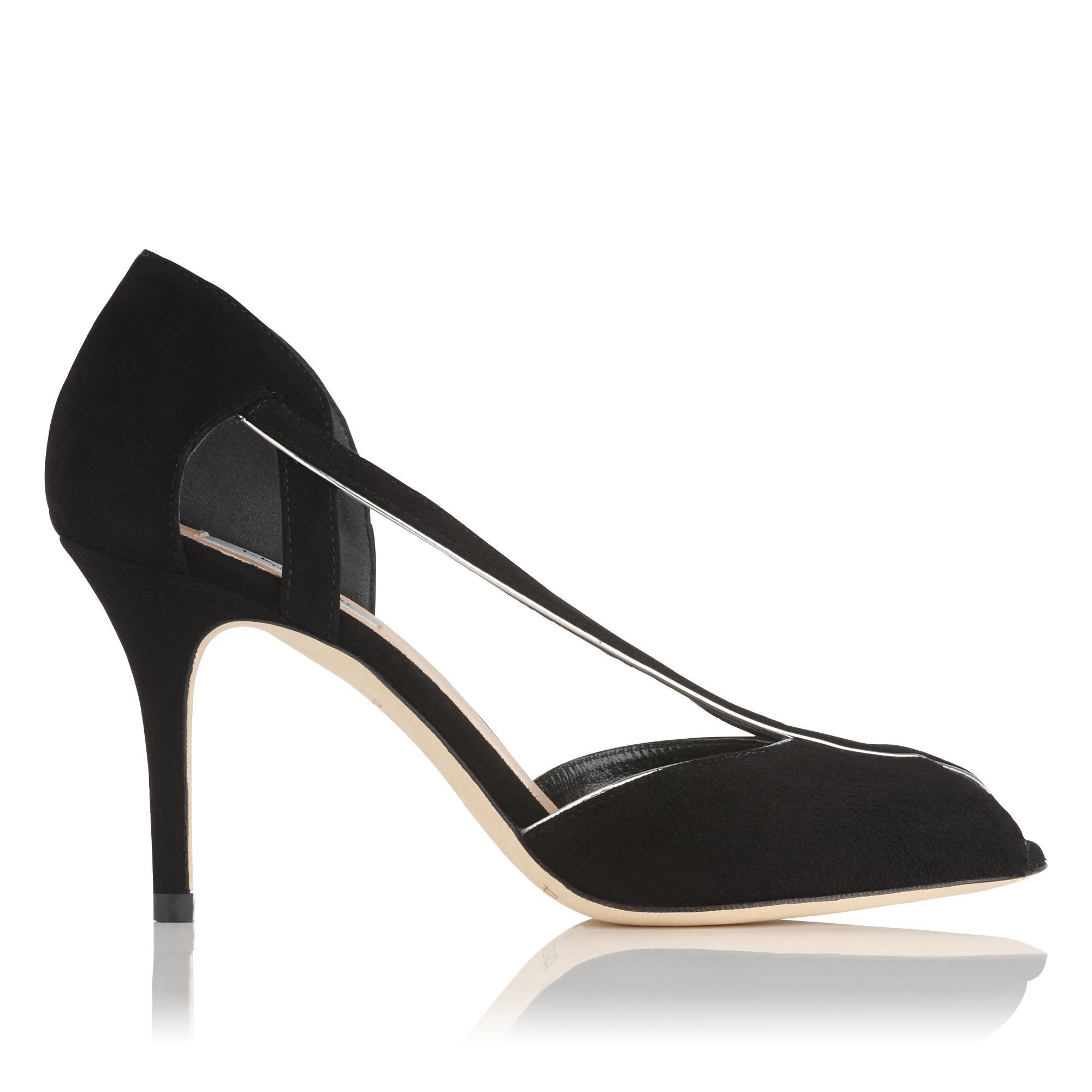 Liya Black Suede Sandal