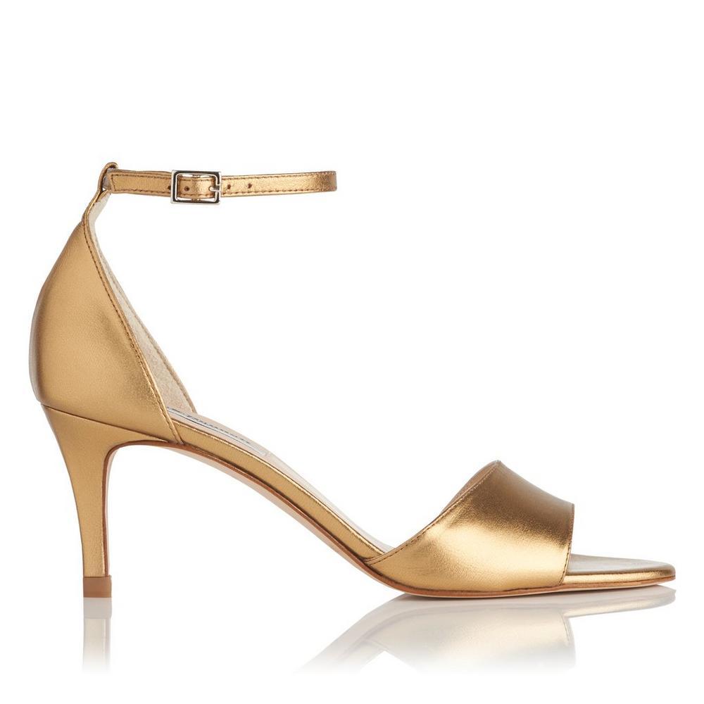 L.K. Bennett Omya Leather Ankle Strap Sandal
