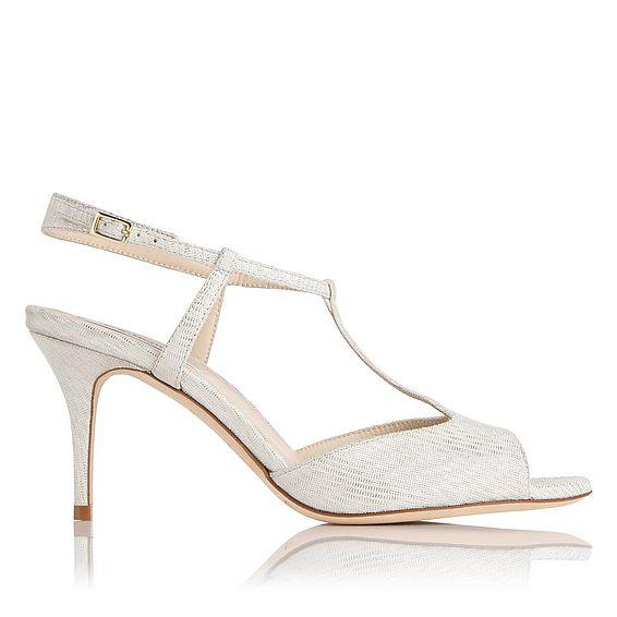 Quinn Silver Shimmer Suede Sandal