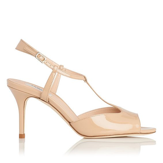 Quinn Nude Patent Leather Sandal