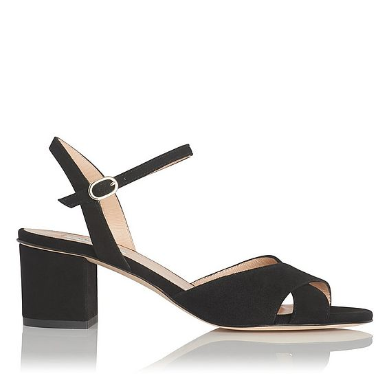 Tabitha Black Suede Sandal