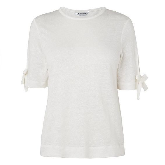 Chloee White Linen Top