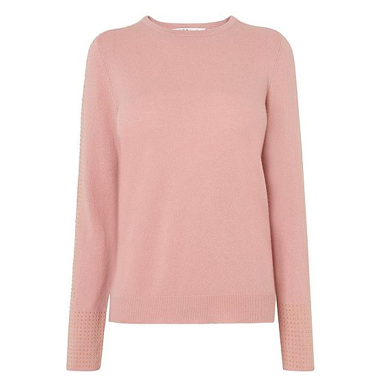 Adel Pink Studded Sweater