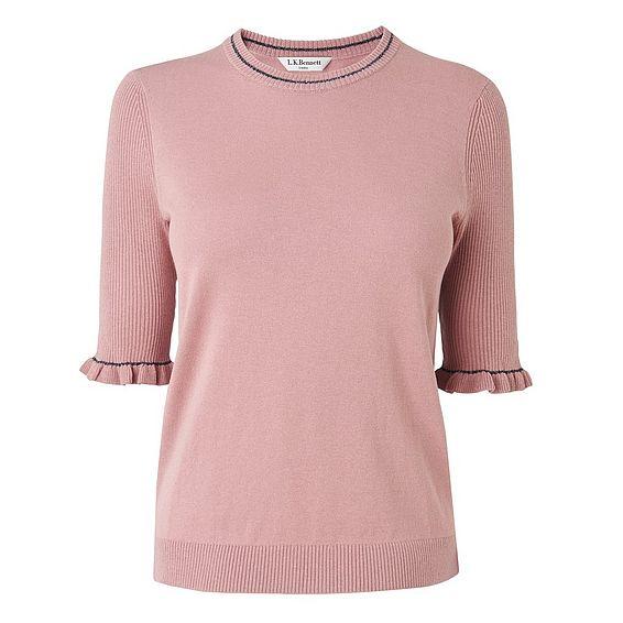 Amal Pink Knit Top