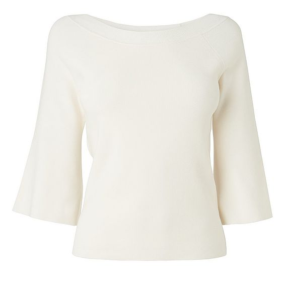Eleni Cream Ribbed Sweater