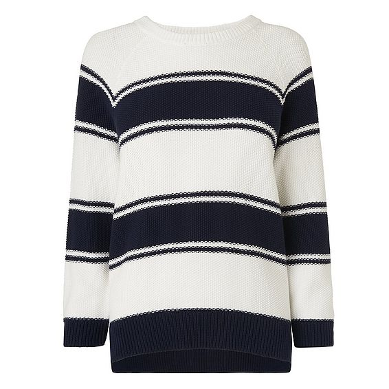 Lilian Navy and White Sweater