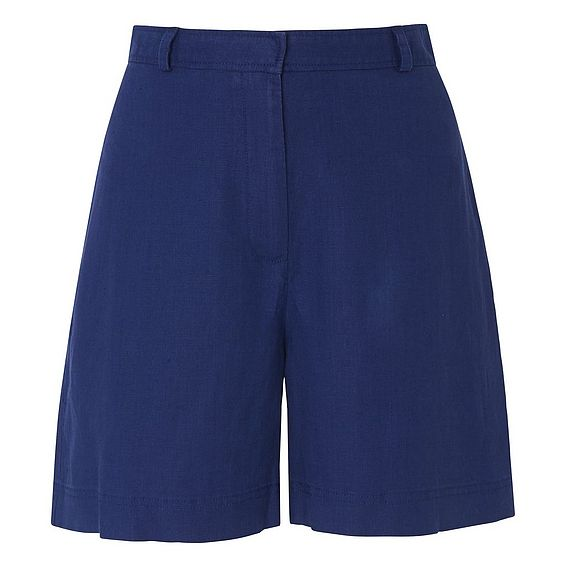 Elpis Blue Linen Shorts