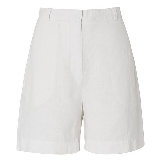 Elpis White Linen Shorts