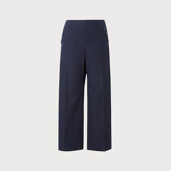 Ingrid Navy Wide Leg Pants