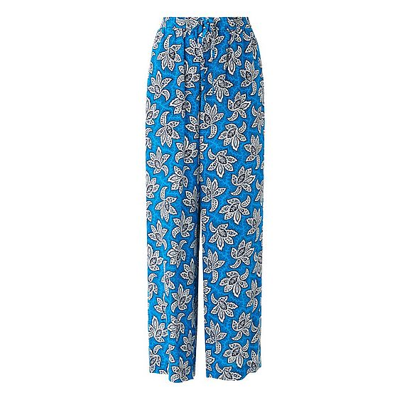 Oriana Blue Printed Pants