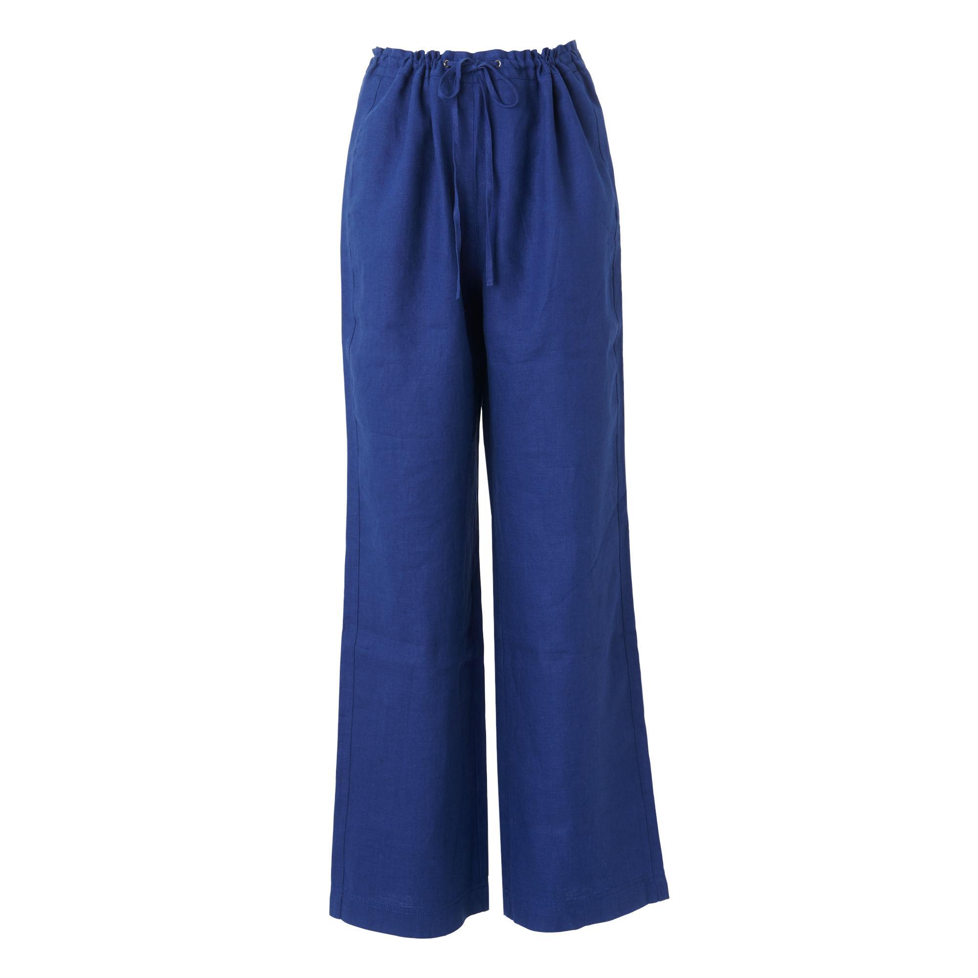 Oriole Blue Linen Pants