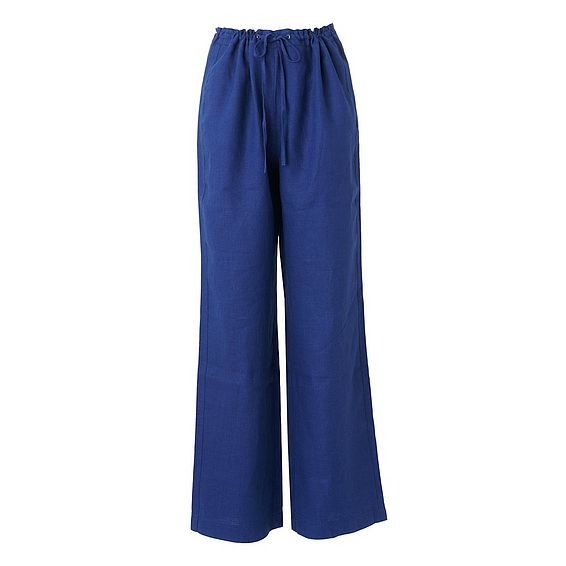 Oriole Blue Linen Pants