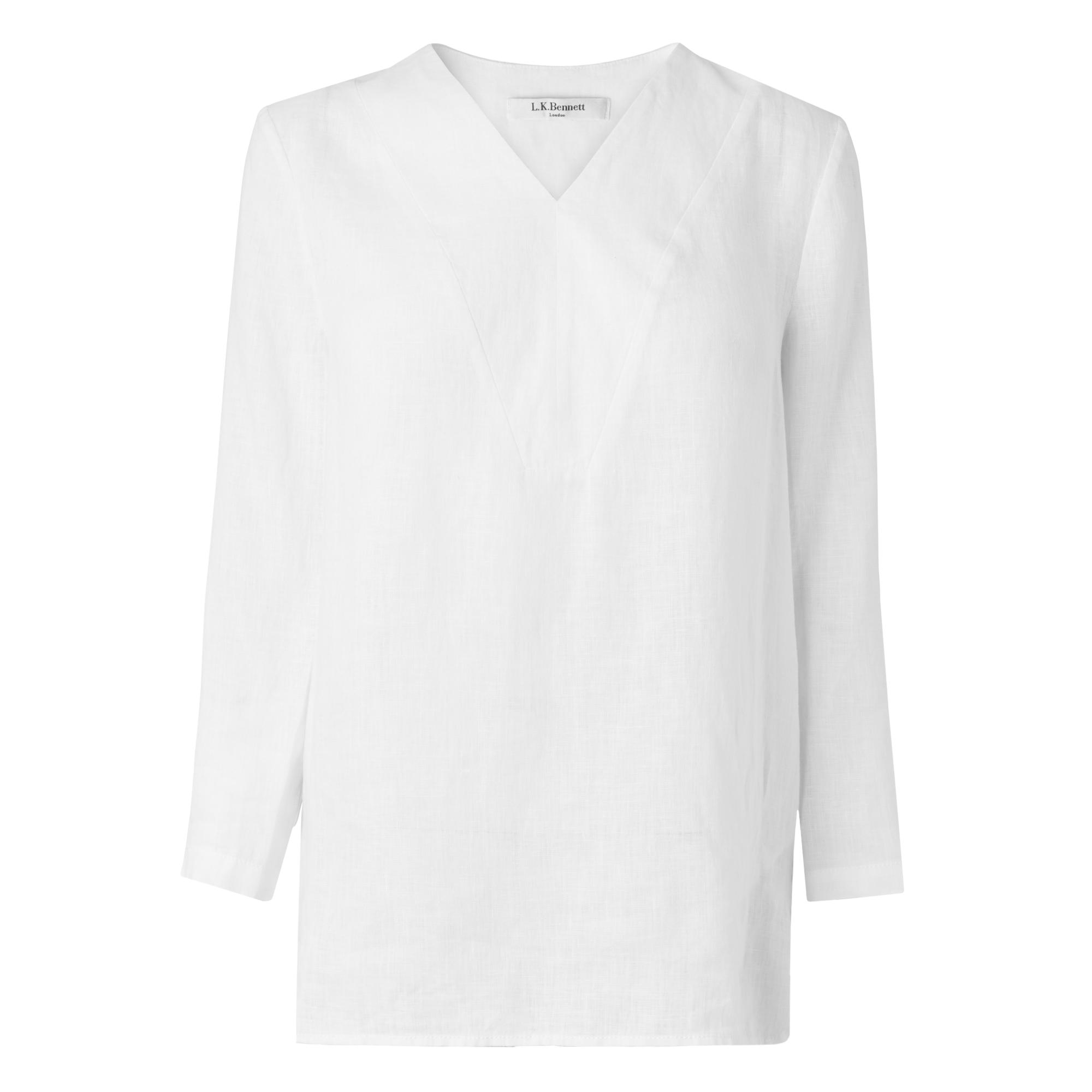 Alania White Oversized Top