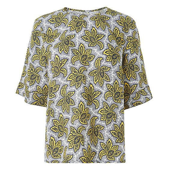 Emmie Printed Linen Top