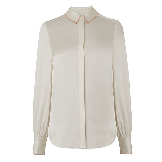 Fran Cream Silk Top