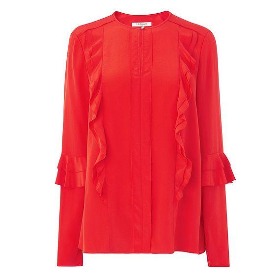 Renie Red Silk Top