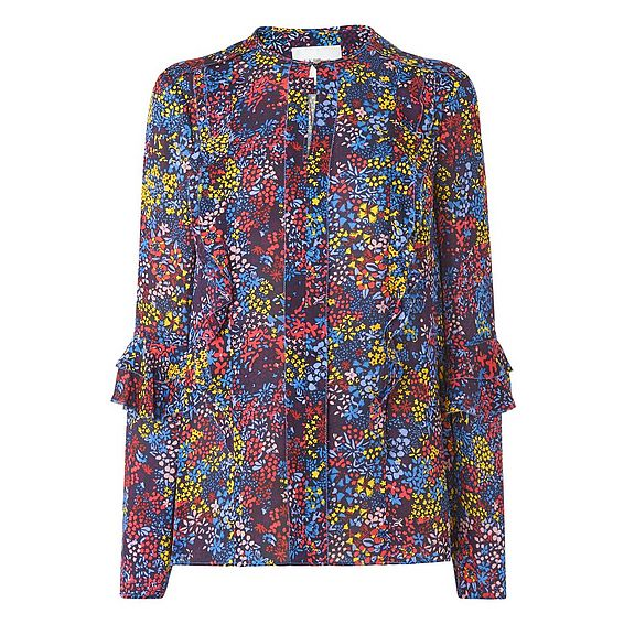 Robin Blue Floral Print Top