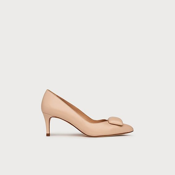 Doria Nude Leather Heels