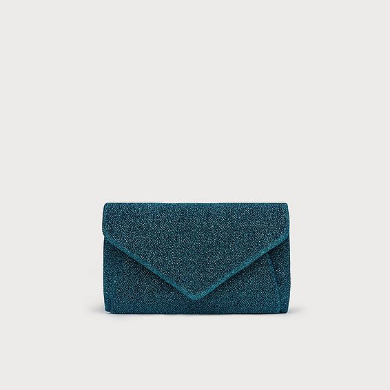 Lorna Metallic Blue Clutch