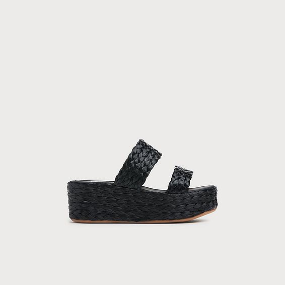 Willa Black Espadrille Sandals