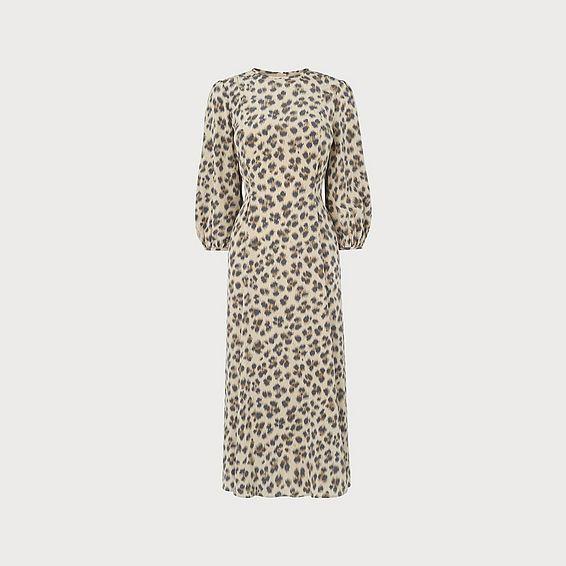 Kaia Animal Silk Dress