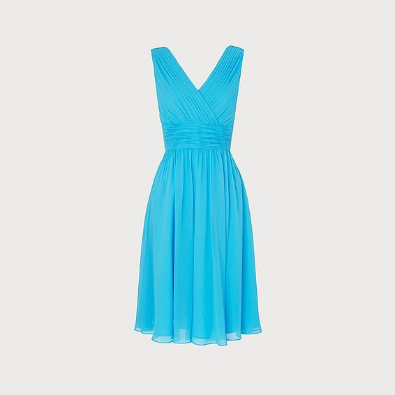 Lori Blue Silk Dress