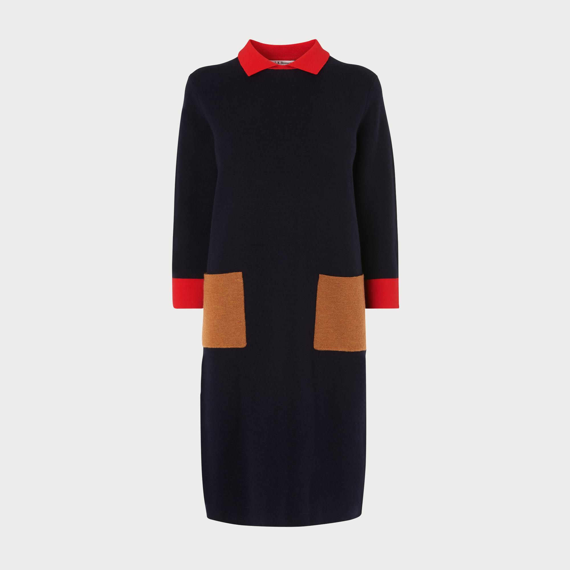 Melanie Navy Sweater Dress by L.K.Bennett