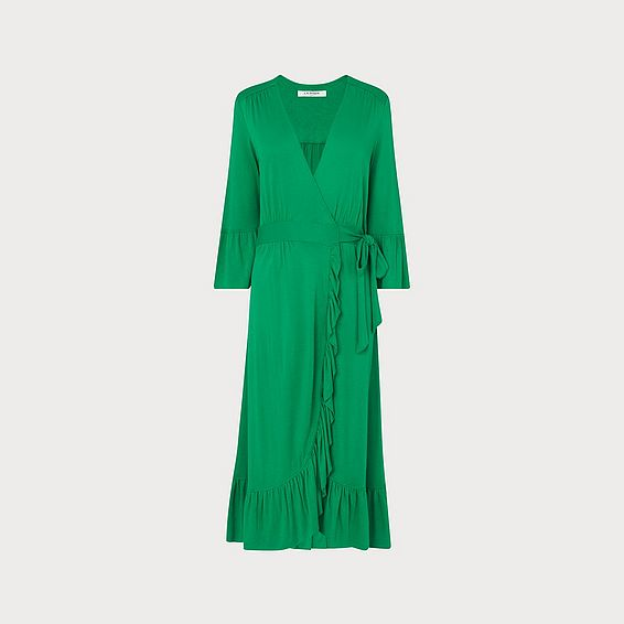 Vika Green Wrap Dress