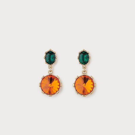 Louisa Orange Crystal Drop Earrings