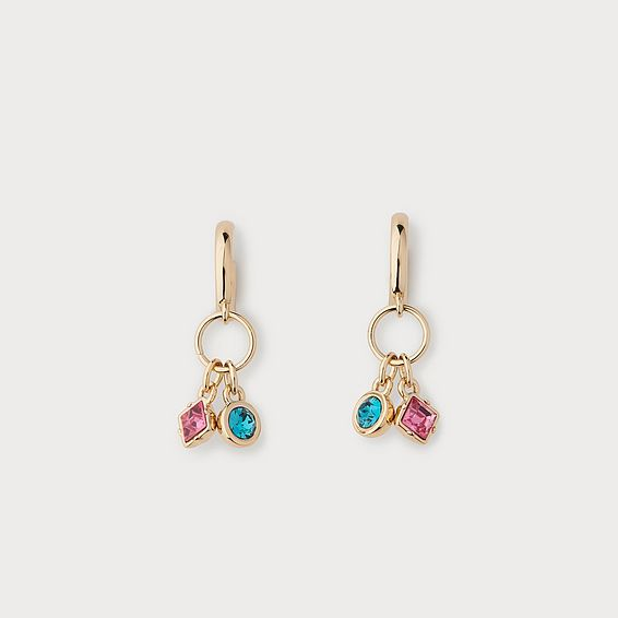 Lucy Rose Crystal Gold Plating Earrings