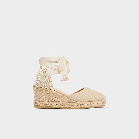 Maureene Cream Espadrille Wedges
