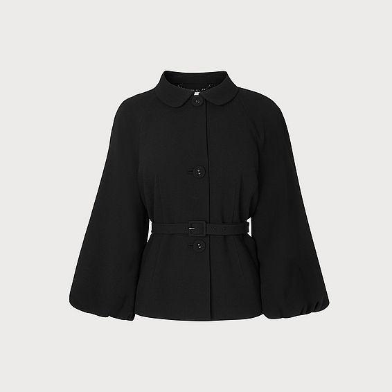 Roan Black Belted Jacket