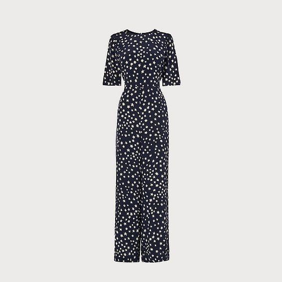 Loren Silk Star Print Jumpsuit