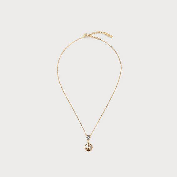 Lottie Amber Crystal Drop Necklace